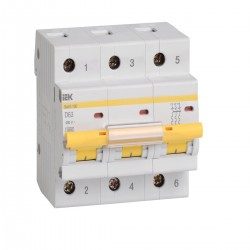 Автоматический выключатель ВА 47-100 3Р 10А - 100А   ИЭК