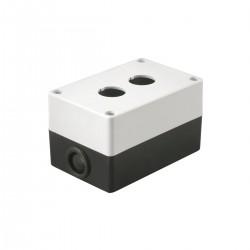Корпус КП102 для кнопок 2 места белый ИЭК